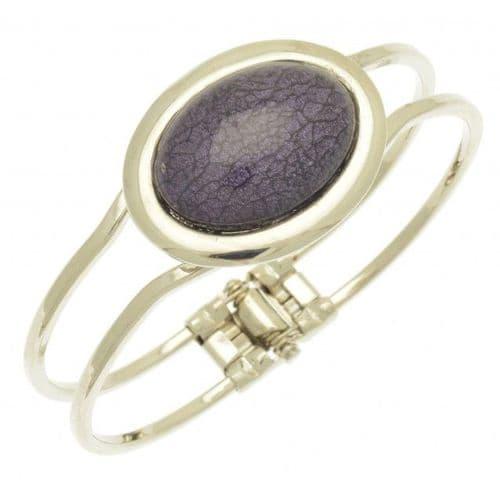 Miss Milly Purple Marble Resin Bracelet