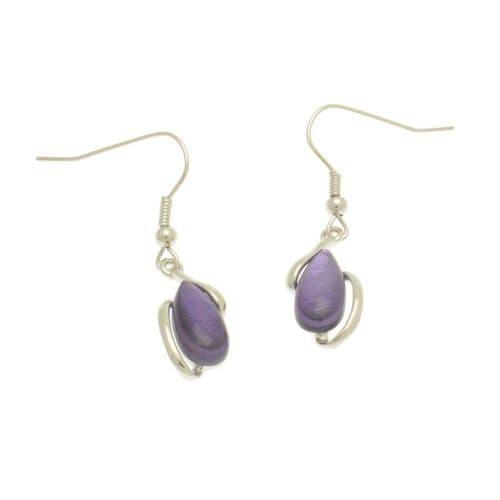 Miss Milly Purple Pebble Earrings