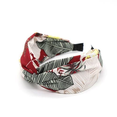 POM Peace Of Mind Botanical Print Headband in Red