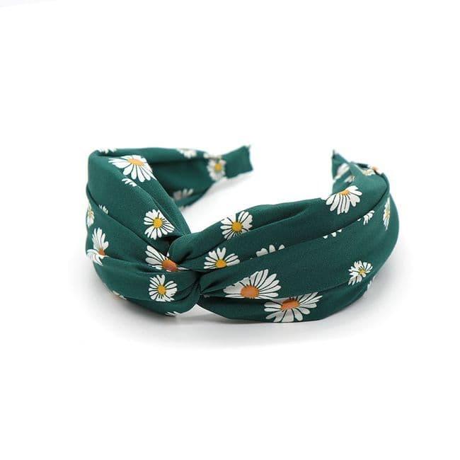 POM Peace Of Mind Daisy Print Headband in Green