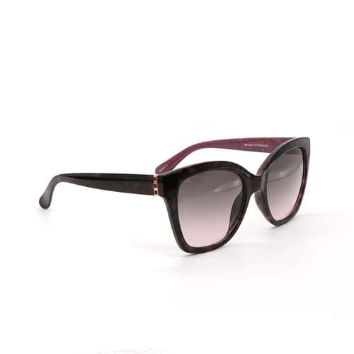 POM Peace Of Mind Tortoiseshell Sunglasses with Gold and Magenta Detailing