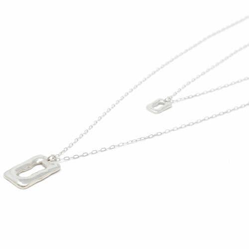 Sobo & Co Jewellery Long Double Chain Ring Feature Neckalce
