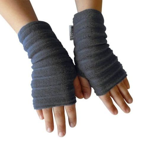 Wristees Junior Wrist Warmers in Charcoal Grey