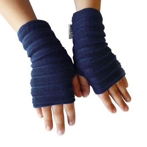 Wristees Junior Wrist Warmers in Navy Blue