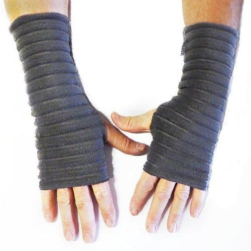 Wristees Men's Wrist Warmers in Charcoal Grey