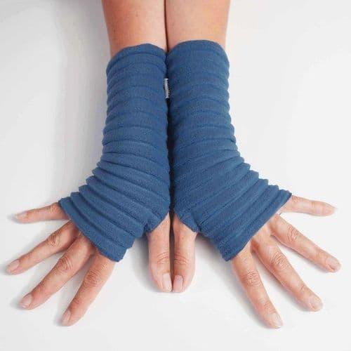 Wristees Super Soft Wrist Warmers in Blue