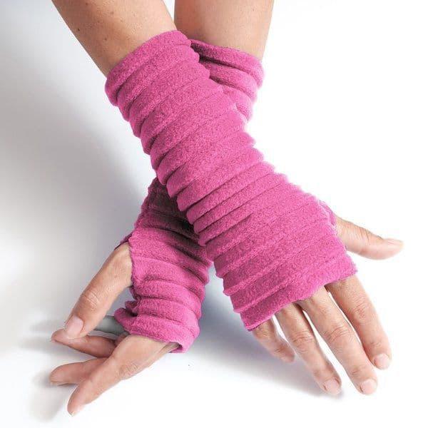 Wristees Wrist Warmers in Bubblegum Pink