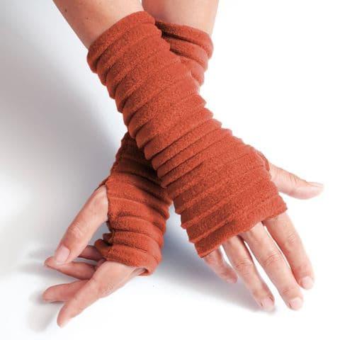 Wristees Super Soft Wrist Warmers in Burnt Orange