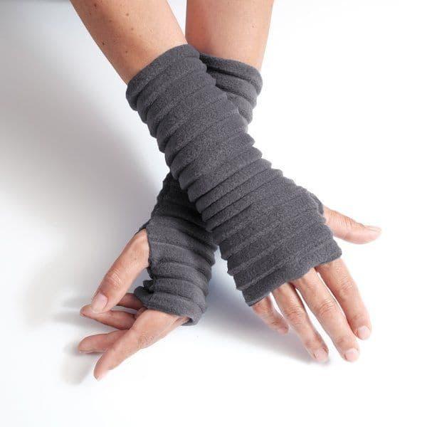 Wristees Wrist Warmers in Charcoal Grey