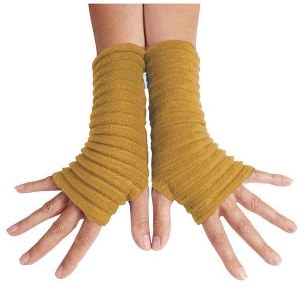 Wristees Wrist Warmers in Mustard Yellow