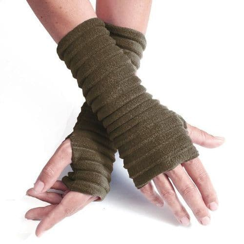 Wristees Super Soft Wrist Warmers in Olive Green