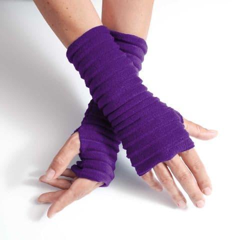 Wristees Super Soft Wrist Warmers in Purple