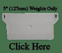 """127mm (5"""") Bottom Weights"""