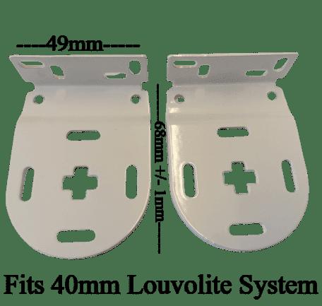 40mm  Louvolite Roller  Narrow 70 mm Brackets only