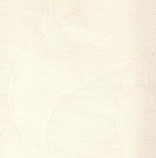 "Jacamar White Fabric -made to measure slats in 3.5"" fabric upto a maximum length of 2100mm"