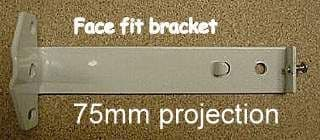 Narrow  (28mm) White Face Fix Brackets 75mm Projection