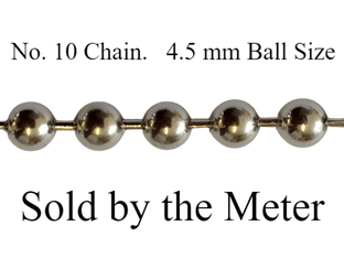 No.10 METAL control chain (sold by the metre)