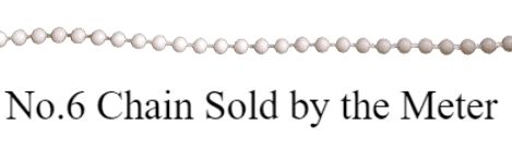 No.6 double ball White control chain (sold by the metre)