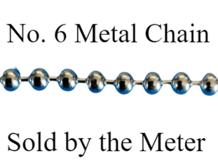 No.6 METAL control chain (sold by the metre)