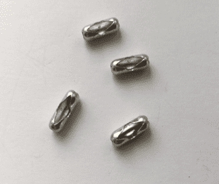 Pack of 4 Metal chain connectors (to fit number 6, 3.2mm ball chain)