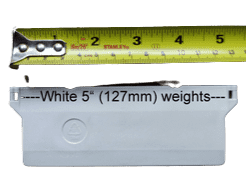 """Pack of WHITE blind weights 127mm (5"""")"""