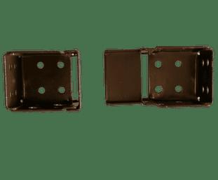 Pair of Metal Box brackets for 25mm Venetian Blinds Bracket - DARK BROWN ONLY. Sold in PAIRS.