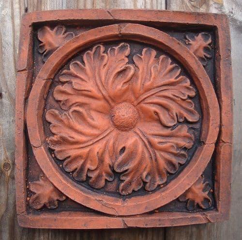 'Gothic Oak Leaf' Copy of antique decorative brick wall tile