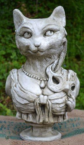 'Lady Kitty' Cat Garden ornament Bust