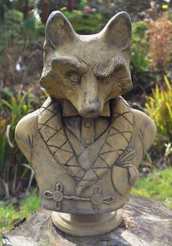 'Lord Reynard' Fox Garden ornament Bust