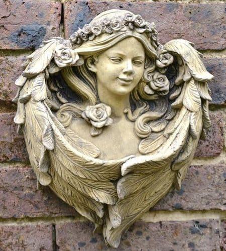 'Rose' Angel Wall plaque bird feeder