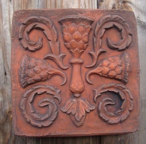 'Scottish Thistle' decorative brick wall tile