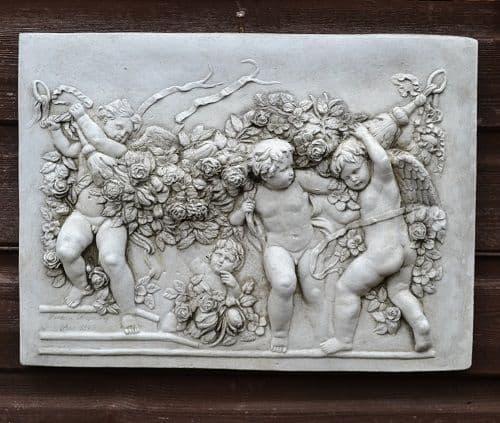 Cherub Angel Wall plaque in low relief