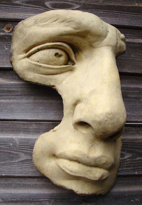 David Face classical wall plaque