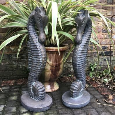Pair of Seahorse statues