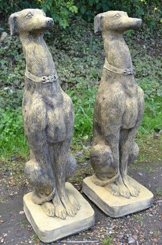 Pair of Whippet Dog Statues -'Seamus'
