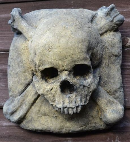 Skull and Crossbones wall plaque