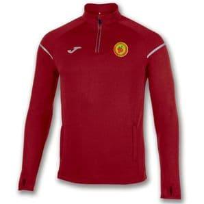 Avenue United FC Sweatshirt 1/2 Zipper Race Red Adults