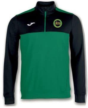 Boyne AC Joma Winner 1/4 Zip Sweatshirt Green Medium/Black Youth 2019