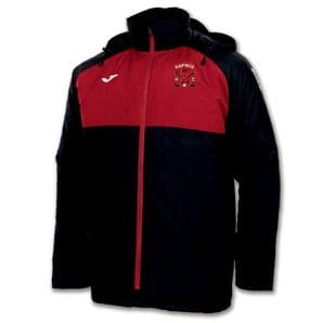 Raphoe Hockey Club Anorak Jacket Black/Red  - Adults 2018