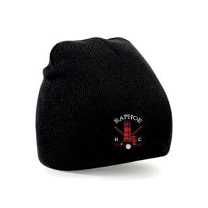 Raphoe Hockey Club Beanie Hat Black  - Adults 2018