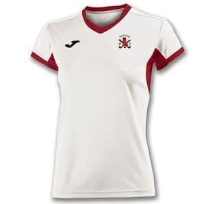 Raphoe Hockey Club Champion IV (Ladies Fit) T-Shirt White/Red  - Adults 2018
