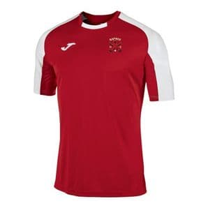 Raphoe Hockey Club Essential T-Shirt Red/White - Adults 2018