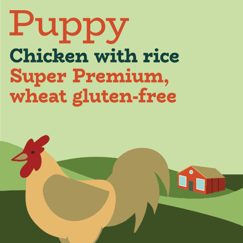 Chicken and rice puppy food