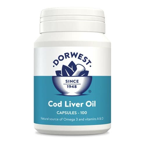 Cod Liver Oil Supplement Capsules for Dogs and Cats