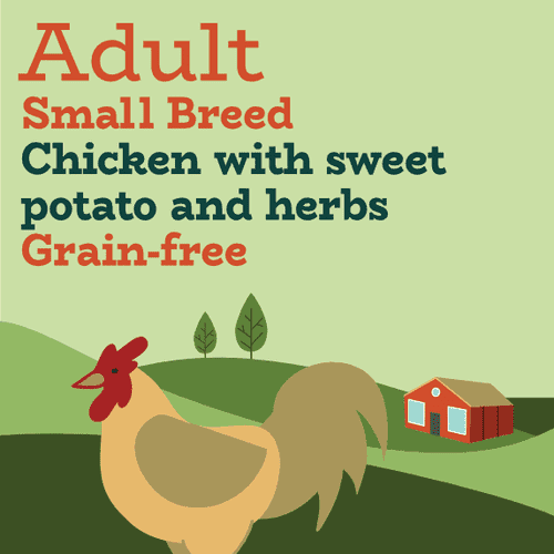 Grain free small breed just chicken dog food without fish