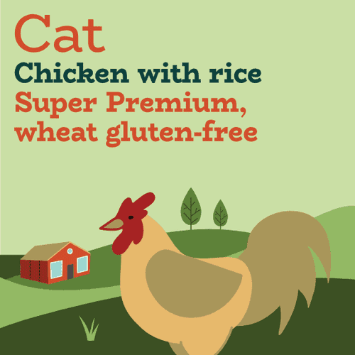 Low fat limited ingredient chicken and rice dry cat food