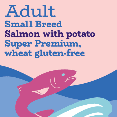 Small breed salmon and potato low fat complete dog food