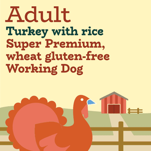 Turkey and rice low fat and lower purine light working dog food