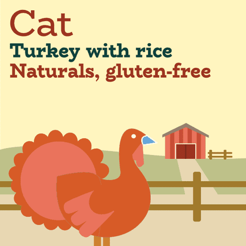 Turkey dry cat food for urinary and digestive health