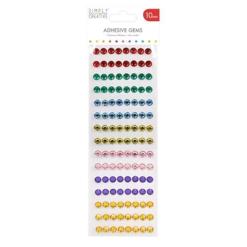Adhesive  Gems - 120 Pack Rainbow - 10mm